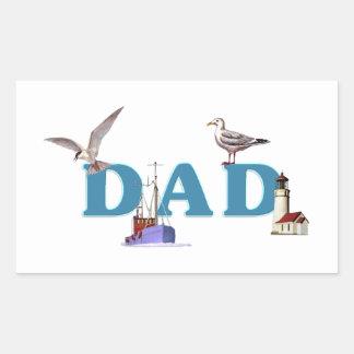 Dad Ahoy Rectangular Sticker