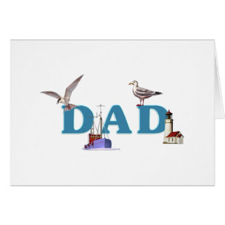 Dad Ahoy Stationery Note Card