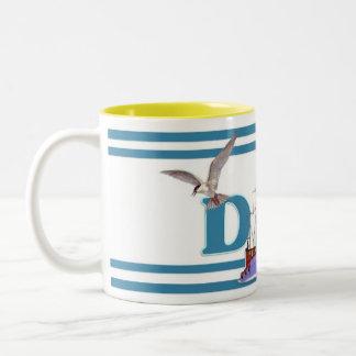 Dad Ahoy Two-Tone Coffee Mug