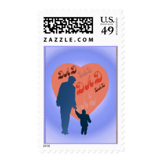 Dad All Heart Postage