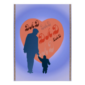 Dad All Heart Poster