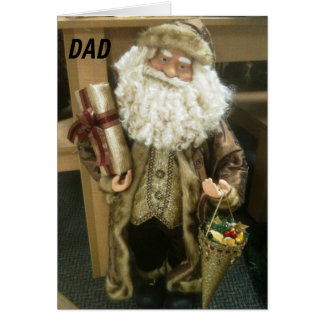 """DAD"" ALL THAT IS MERRY IS WISHED TO YOU CARD"
