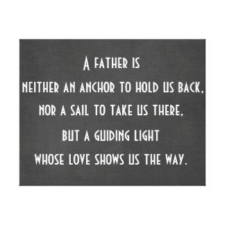 Dad Anchor Quote Canvas Print