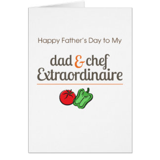 Dad and Chef Extraordinaire Card