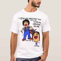 Dad and Daughter Cartoon T-Shirt