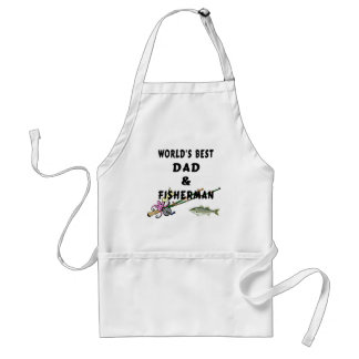 Dad and Fisherman Adult Apron