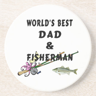 Dad And Fisherman Drink Coaster