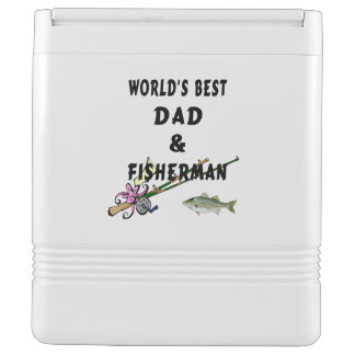 Dad And Fisherman Drink Cooler