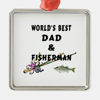 Dad and Fisherman Christmas Ornament