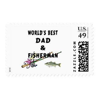Dad and Fisherman Postage