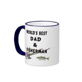 Dad and Fisherman Ringer Mug