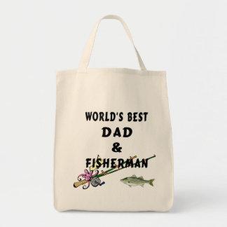 Dad and Fisherman Tote Bag