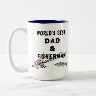 Dad And Fisherman Two-Tone Coffee Mug