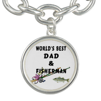 Dad and Fishing Bracelet