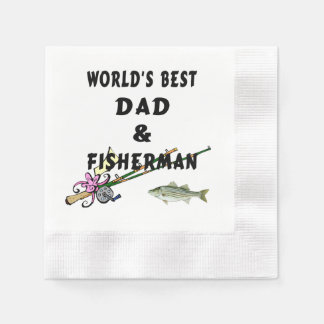 Dad and Fishing Disposable Napkins