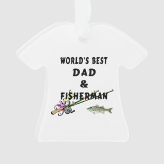 Dad and Fishing Ornament