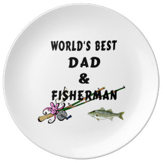 Dad and Fishing Plate