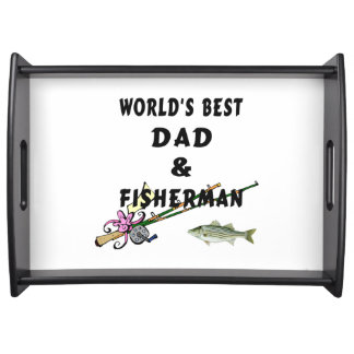Dad and Fishing Serving Tray