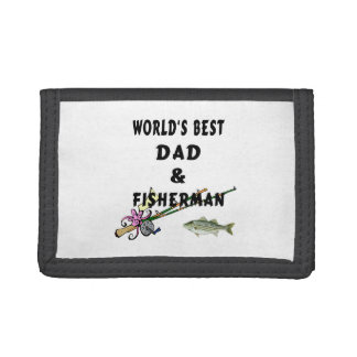 Dad and Fishing Tri-fold Wallets