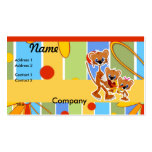 Dad and Kid Tigers Business Cards