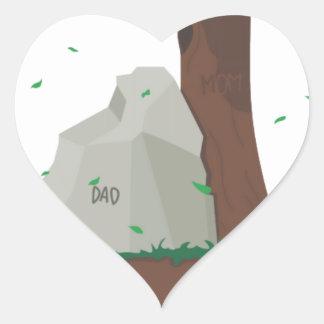 Dad and Mom ancestor Heart Sticker