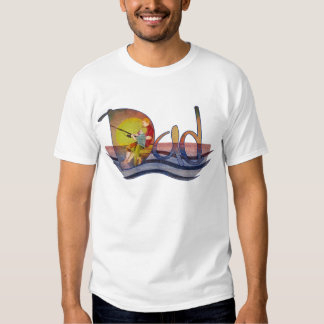 Dad and son fishing artistic text design t-shirts