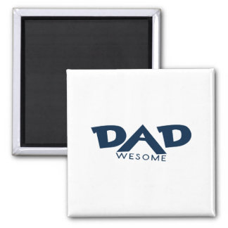 Dad Awesome 2 Inch Square Magnet