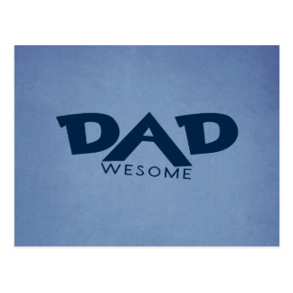 Dad Awesome Postcard