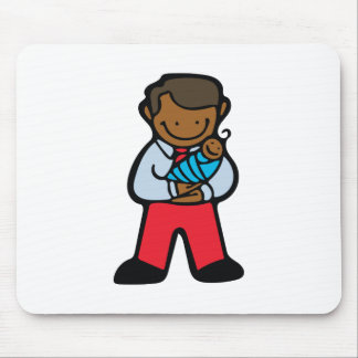 Dad & Baby Mouse Pad