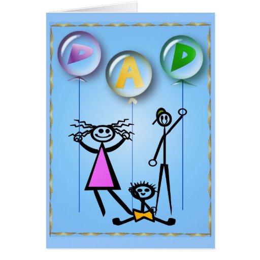 Dad Balloons Card