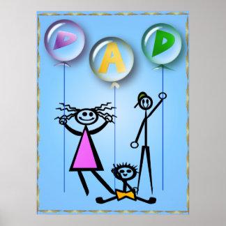 Dad Balloons Print