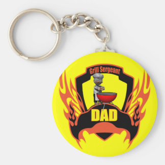 Dad Barbecues Keychain