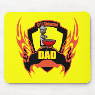 Dad Barbecues Mouse Pad