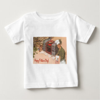 Dad Barbeque BBQ Retro Ad Vintage Father's Day Baby T-Shirt