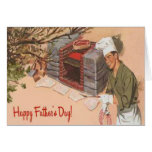 Dad Barbeque BBQ Retro Ad Vintage Father's Day Card