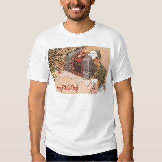 Dad Barbeque BBQ Retro Ad Vintage Father's Day T-shirt
