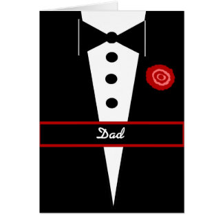 DAD Be My Best Man Card with Tux and Rose