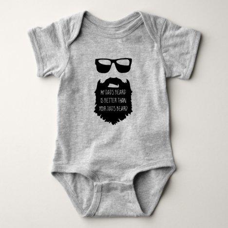 Dad beard Baby One Piece Body Suit Baby Bodysuit