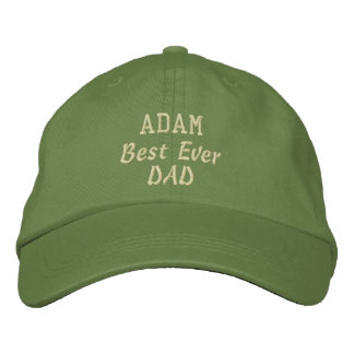 DAD Best Ever Dad Custom Name Father's Day Embroidered Hat