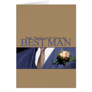 Dad   best man thank you card