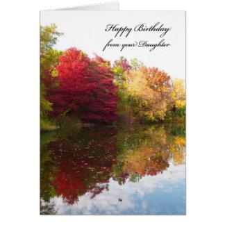 Dad Birthday Card from Daughter -- Autumn Scene