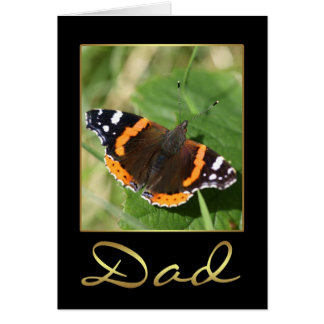 Dad Birthday Card With Butterfly
