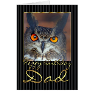 Dad Birthday Card With Eagle Owl