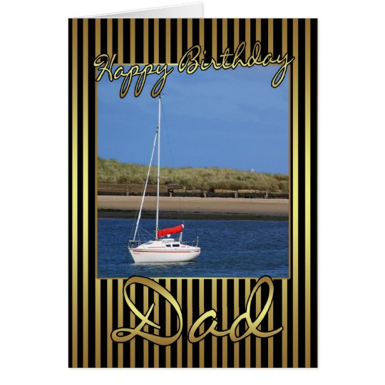Dad Birthday Card With Sailing Boat