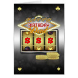 Dad Birthday Greeting Card Casino Theme With Slots