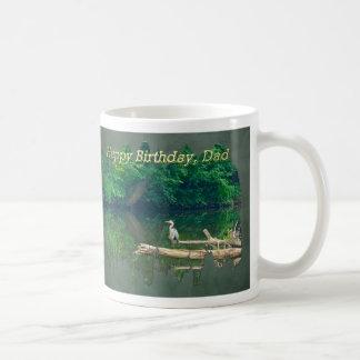 Dad Birthday Morning at the Creek Coffee Mug
