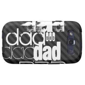 Dad; Black & Dark Gray Stripes Samsung Galaxy SIII Covers