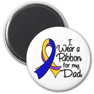 Dad - Bladder Cancer Ribbon 2 Inch Round Magnet