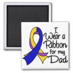 Dad - Bladder Cancer Ribbon 2 Inch Square Magnet