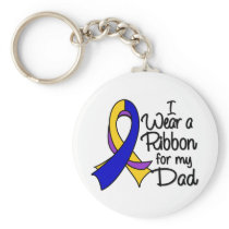 Dad - Bladder Cancer Ribbon Keychain